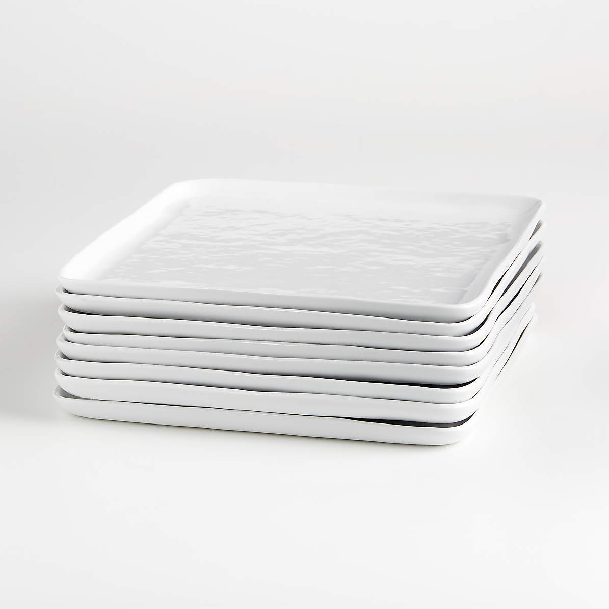 Set Of 8 Mercer Square Dinner Plates Reviews Crate And Barrel