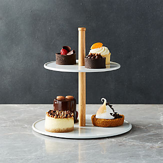 Merge Porcelain Two-Tiered Server