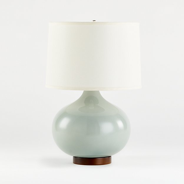 Merie Blue Table Lamp With Bronze Base Reviews Crate