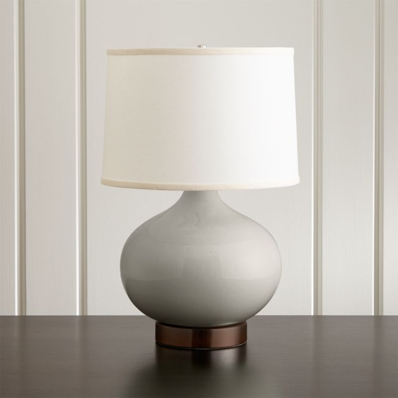 Merie Grey Table Lamp With Bronze Outlet Base Reviews