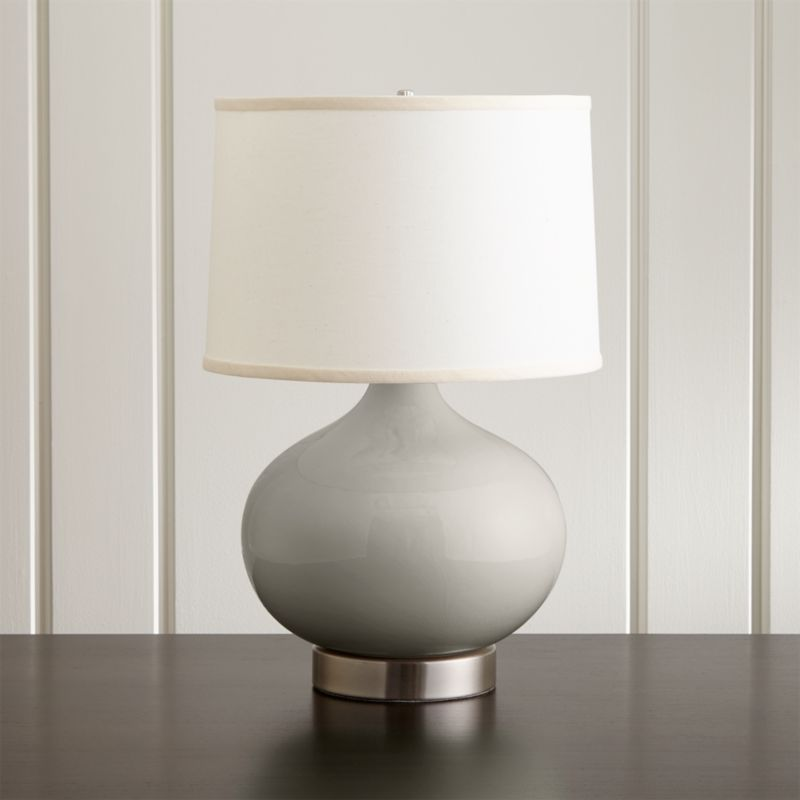 p en h with uk lampshade copper metal grey monde du lamp crossy htm fabric maisons