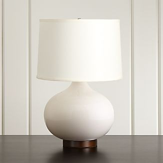 Merie Ivory Table Lamp with Bronze Base