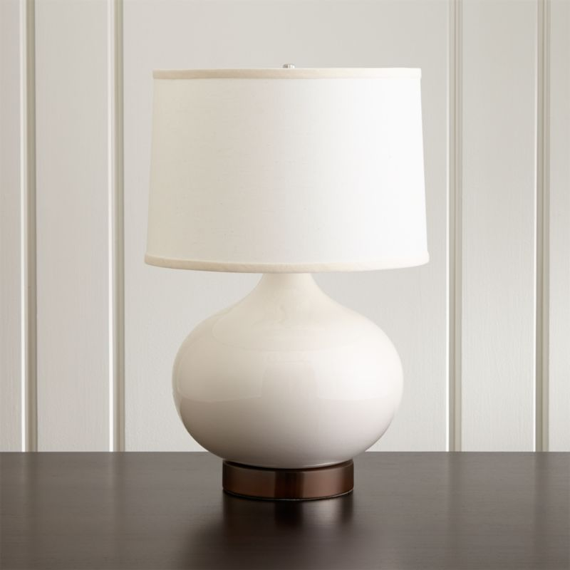 Merie blue table lamp with nickel outlet base reviews crate and merie blue table lamp with nickel outlet base reviews crate and barrel aloadofball Images