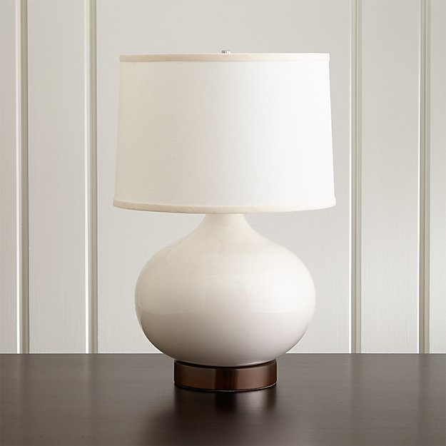 Merie Ivory Table Lamp With Bronze Outlet Base Crate And