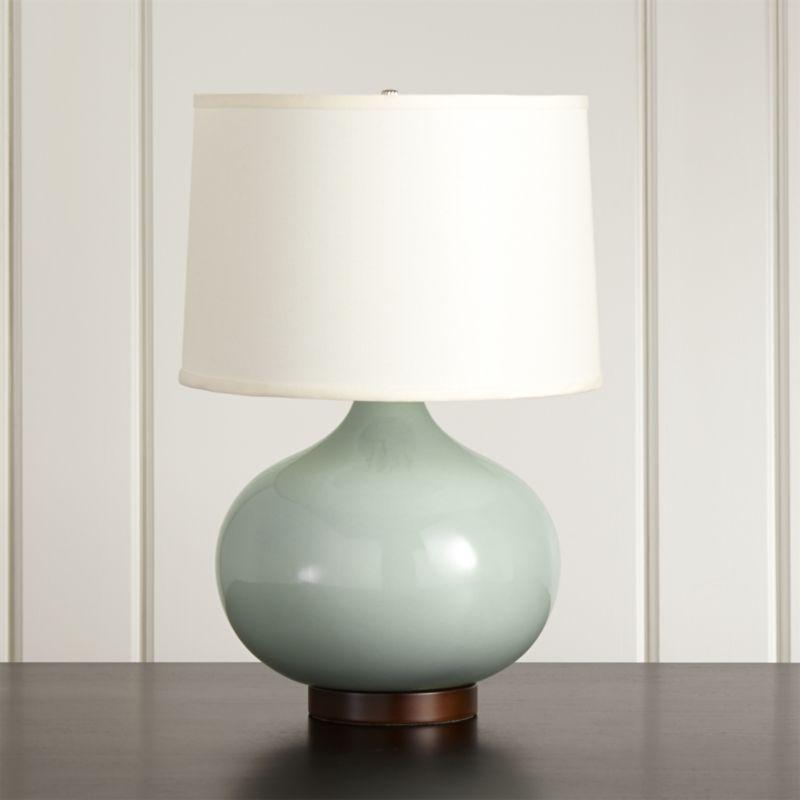 Merie blue table lamp with bronze base reviews crate and barrel aloadofball Images