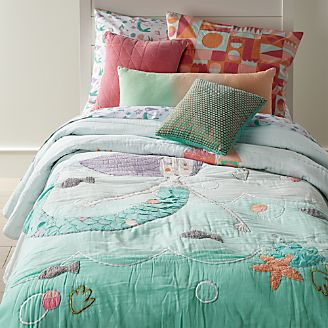 girls bedding sheets duvets pillows crate and barrel