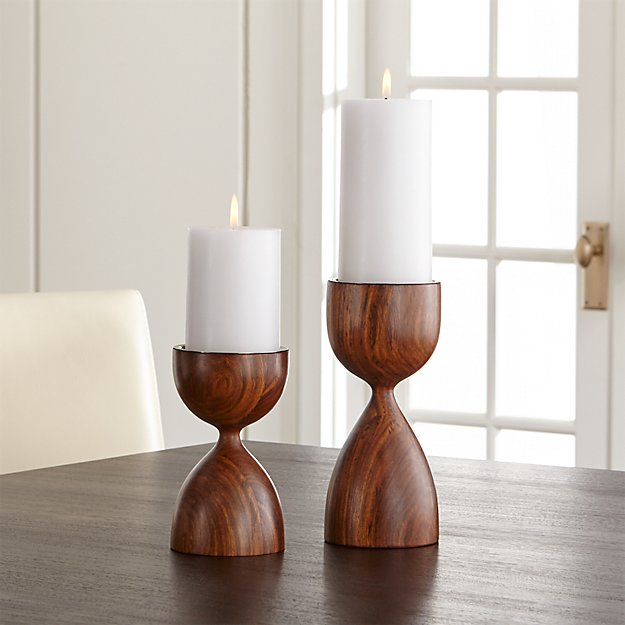 Merritt Solid Wood Pillar Candle Holder