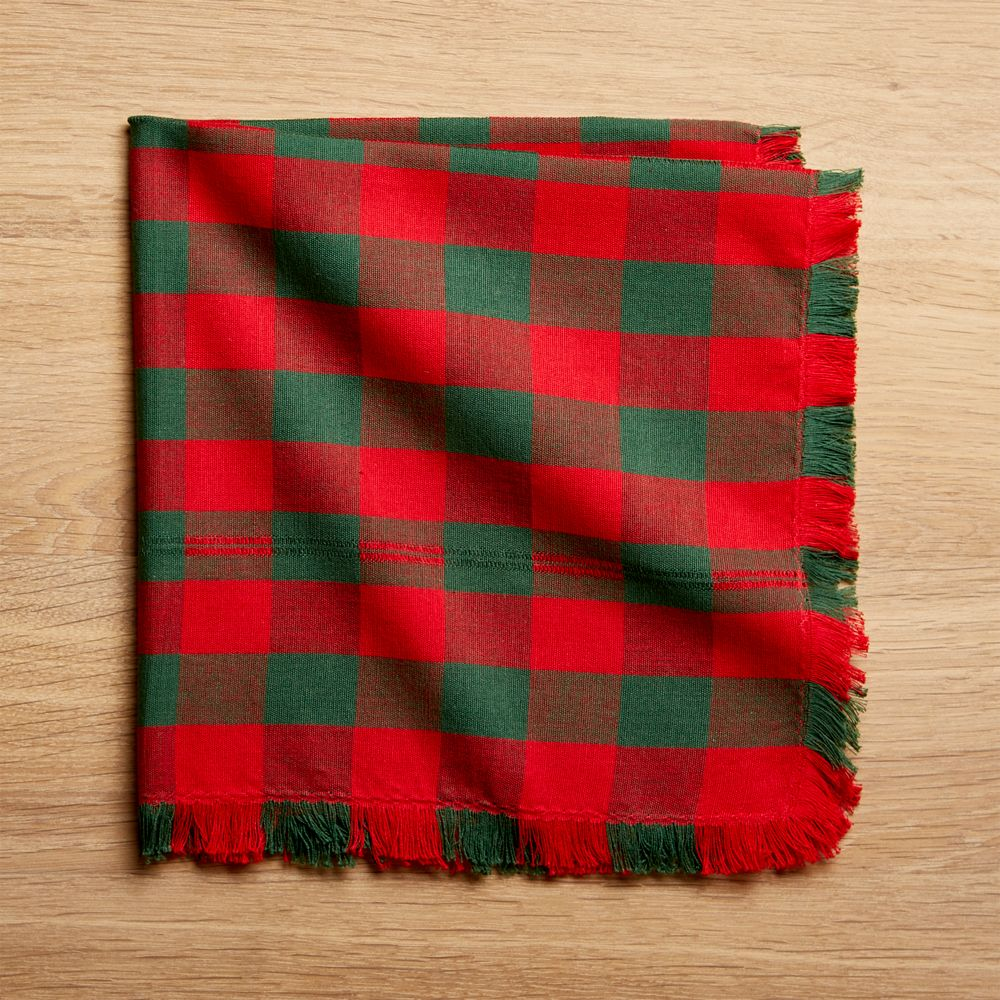 Merry Check Cloth Dinner Napkin
