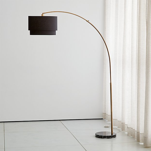 Meryl arc brass floor lamp reviews crate and barrel mozeypictures Images