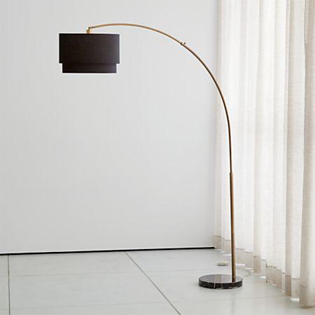 Meryl Arc Brass Floor Lamp Reviews Crate And Barrel