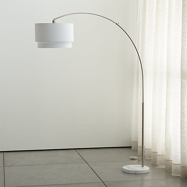 Meryl Arc Floor Lamp in Floor Lamps + Reviews | Crate and Barrel