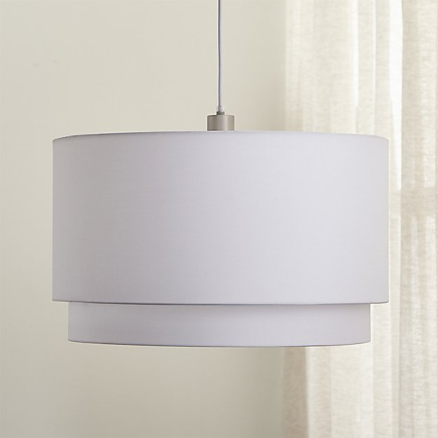 Meryl Double Drum Pendant Light Reviews Crate And Barrel