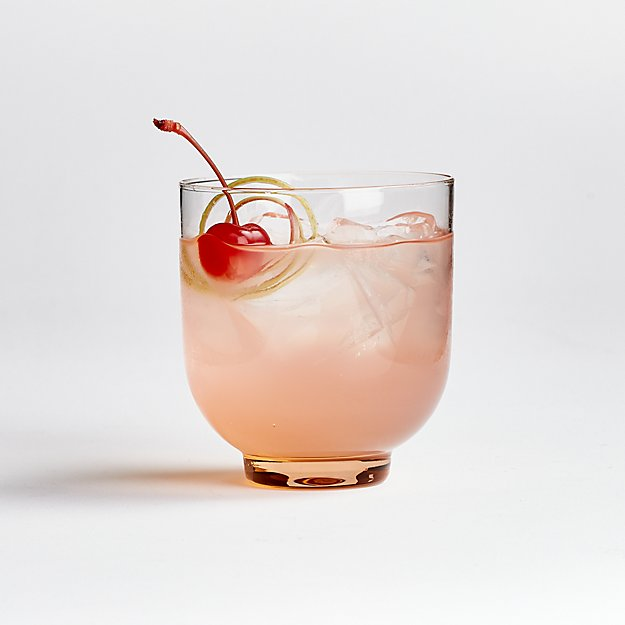 Mesa Pink Double Old-Fashioned Glass - Image 1 of 4