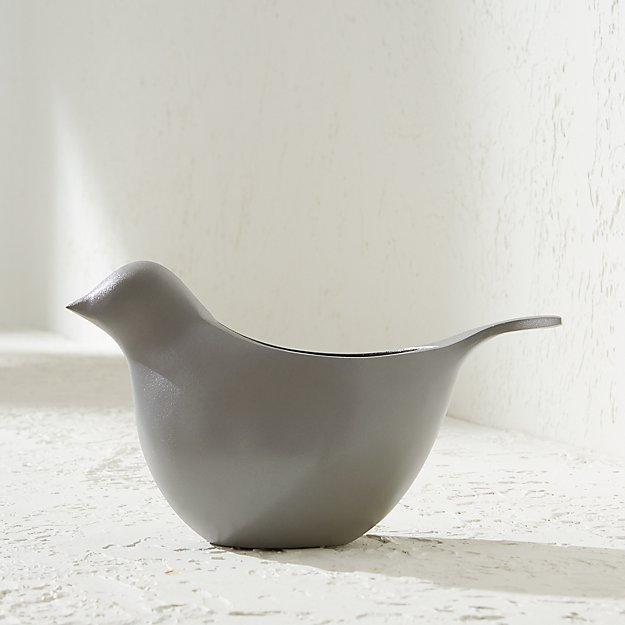 Light Grey Metal Bird Planter - Image 1 of 3