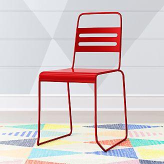 Kids Homeroom Red Metal Desk Chair Kids