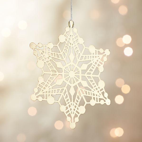 Gold Metal Snowflake