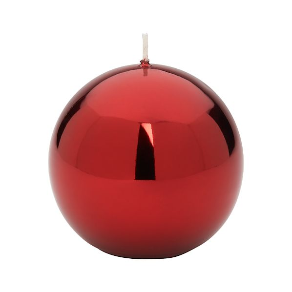 Metallic Red Ball Candle