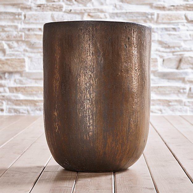 Metallic Bronze Large Planter