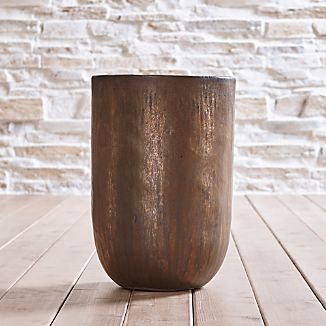 Metallic Bronze Small Planter