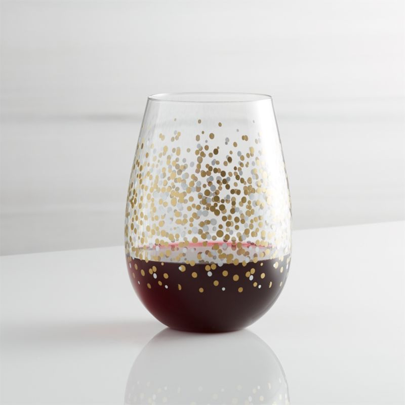 Metallic Dots Stemless Wine