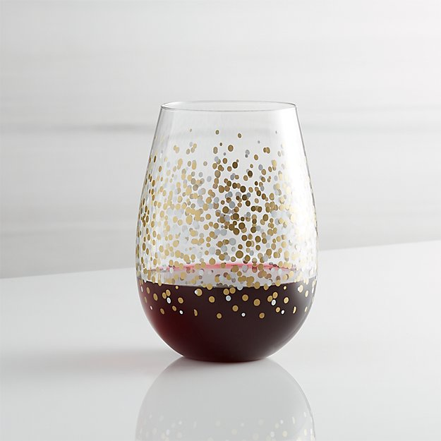Brand-new Metallic Dots Stemless Wine + Reviews | Crate and Barrel TY42