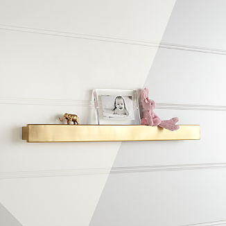 Metallic Gold Wall Shelf