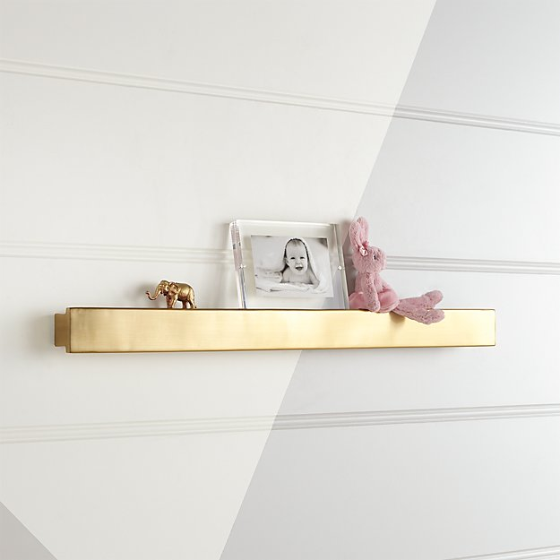 Metallic Gold Wall Shelf Reviews Crate And Barrel