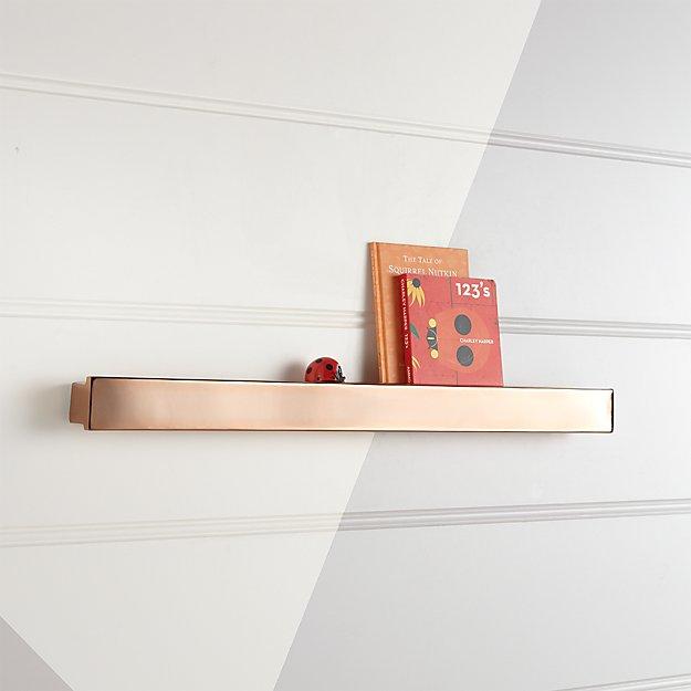 Metallic Rose Gold Wall Shelf + Reviews | Crate and Barrel