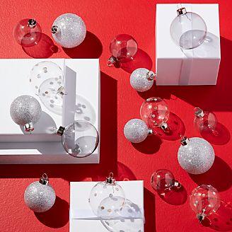 metallic silver ball ornaments set of 16 - Gold Christmas Ornaments