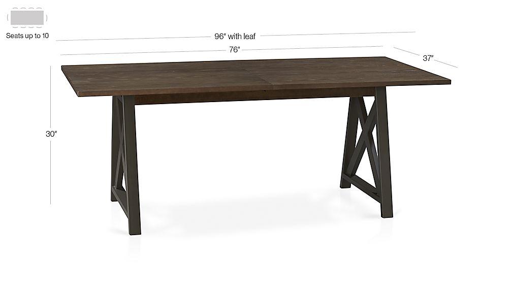 Metra Extension Dining Table Crate and Barrel : MetraExtDiningTable3QF13Dim from crateandbarrel.com size 1008 x 567 jpeg 26kB