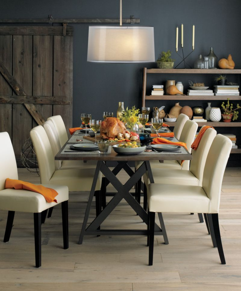 lowe ivory leather dining chair - Leather Dining Room Chairs