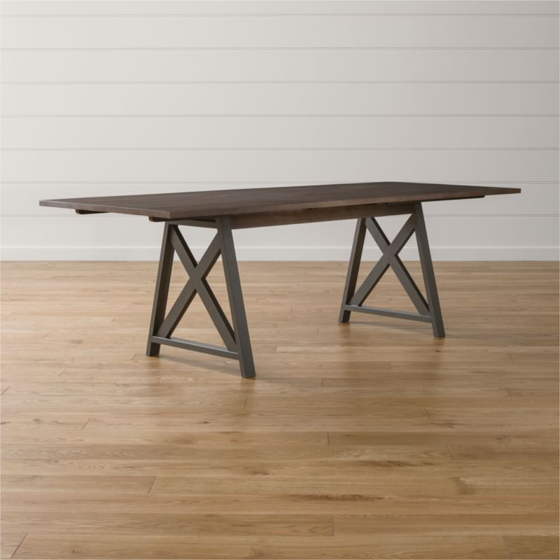 metra extension dining table | crate and barrel