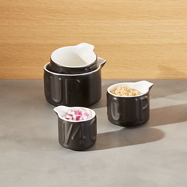 Metro Black Measuring Cups, Set of 4