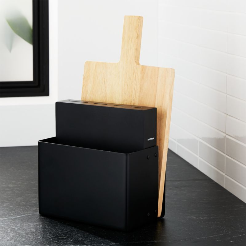 Knife Block Cutting Board Holder Reviews Crate And Barrel