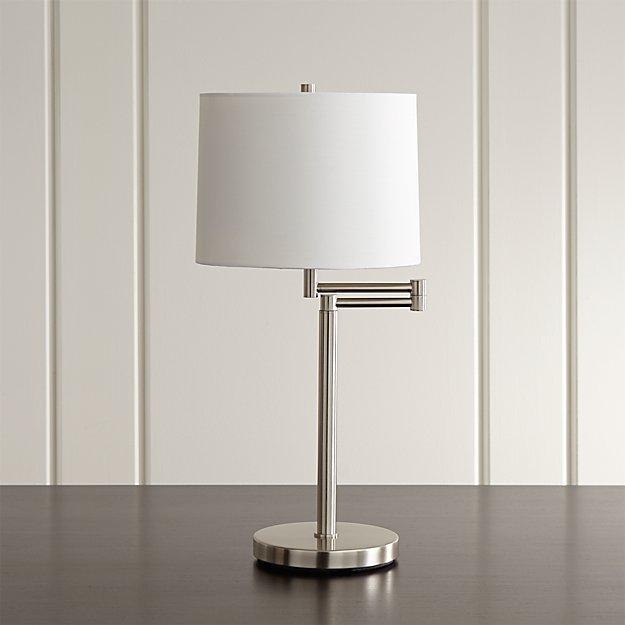 Metro Ii Brushed Nickel Swing Arm Table Lamp Set Of 2 Reviews