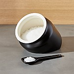 Metro Black Salt Caddy Cellar