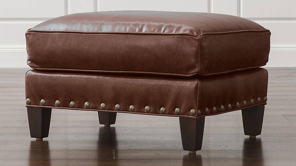 Metropole Leather Ottoman - Leather Ottomans Crate And Barrel