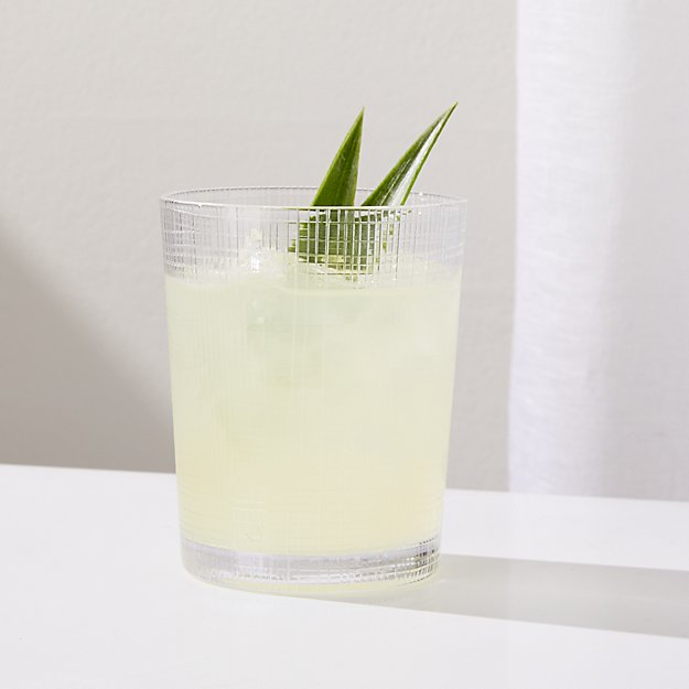 Meza 12-Ounce Handcut Double Old-Fashioned Glass - Image 1 of 5