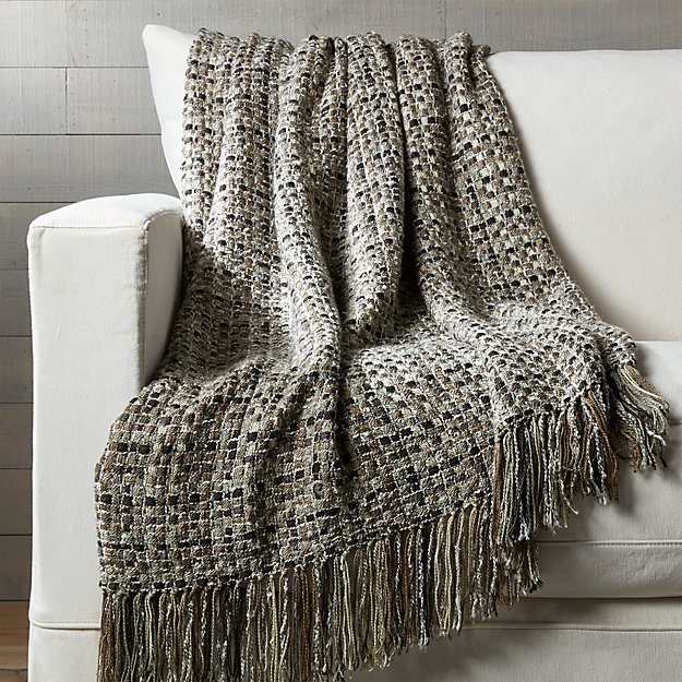 Micah Woven Throw Blanket Crate And Barrel