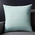 Michaela Aqua 20  Pillow with Feather-Down Insert
