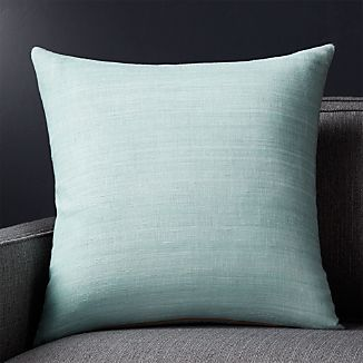 "Michaela Aqua 20"" Pillow with Down-Alternative Insert"