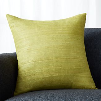 "Michaela Green 20"" Pillow with Down-Alternative Insert"