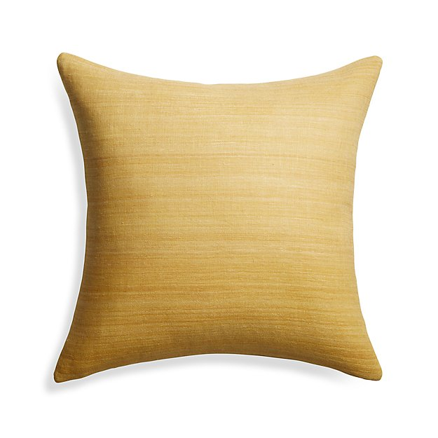Throw Pillow Covers Crate And Barrel : Michaela Yellow 20