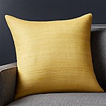 Michaela Yellow 20  Pillow with Feather-Down Insert