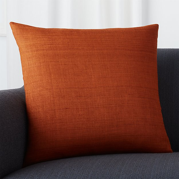 "Michaela Cayenne 20"" Pillow with Feather-Down Insert - Image 1 of 3"