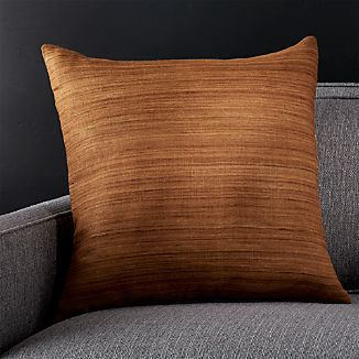 "Michaela Brass 20"" Pillow with Down-Alternative Insert"