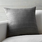 Michaela Smoke Grey 20  Pillow with Feather-Down Insert