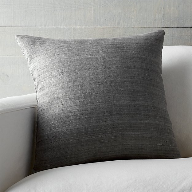 "Michaela Smoke Grey 20"" Pillow"