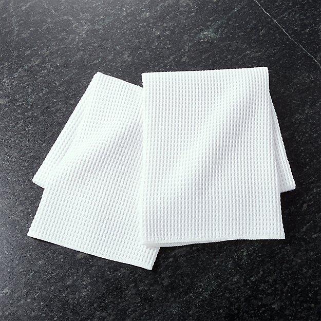Microfiber Waffle Dish Towels, Set of 2