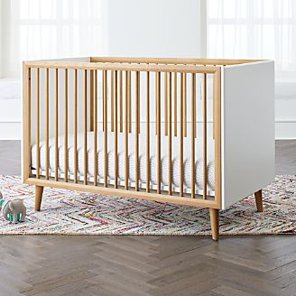 Mid Century Spindle Crib